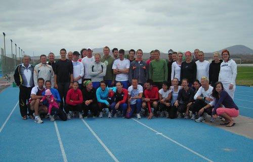 Na soustředění s českými atlety na Kanárských ostrovech.