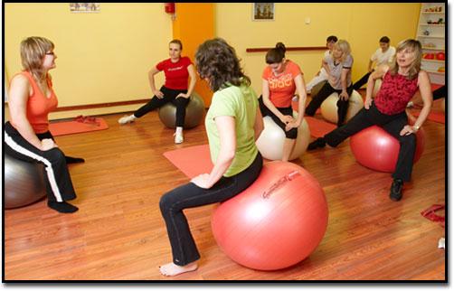 Cvičení na velkých míčích
